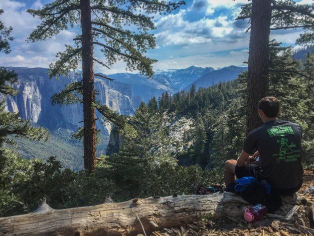 Pohono Trail overlook, Yosemite National Park.